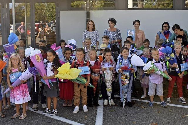 Für 60 Grundschüler hat ein neuer Lebensabschnitt begonnen