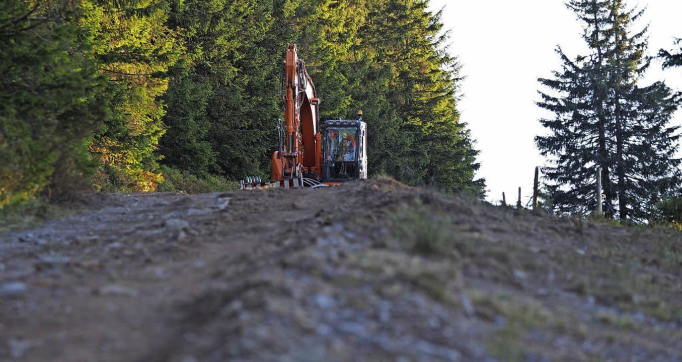 Die Arbeiten, die derzeit am Herzogenh...es Gerät in Bernau eingesetzt werden.   | Foto: Susanne Gilg
