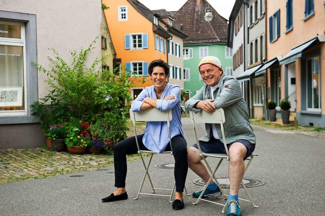 Auch im zivilen Leben meist so gut dra...rollen: Pia Riesterer und Andy Müller.  | Foto: Daniel Schoenen
