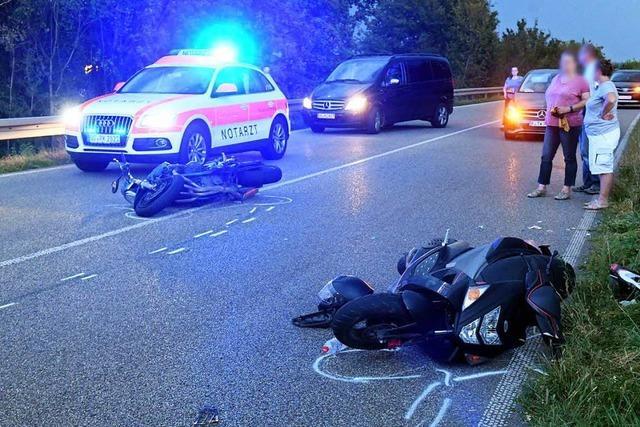 Drei Verletze bei Unfall von zwei Zweirädern in Ettenheim