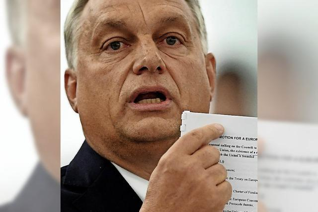 Viktor Orban zeigt sich kompromisslos