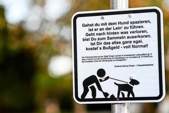Mit Lyrik gegen Hundekot - Stadt Singen setzt auf Schilder
