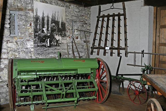 Sichelhenki im Landwirtschaftsmuseum