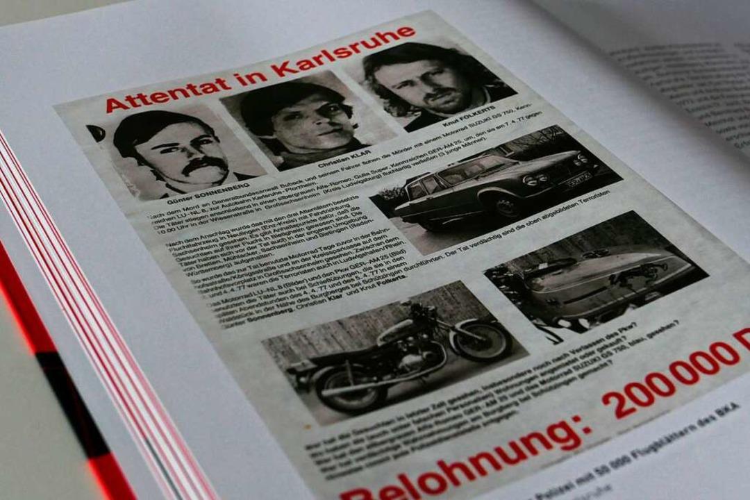 Die bekannteste Lörracher 68er-Geschic...lakat mit dem Foto von Christian Klar.  | Foto: Willi Adam