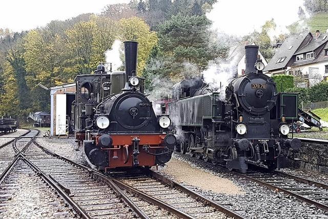 Mit der Dampflok 37878 zum letzten Mal durchs Kandertal und zum Winzerfest in Haltingen