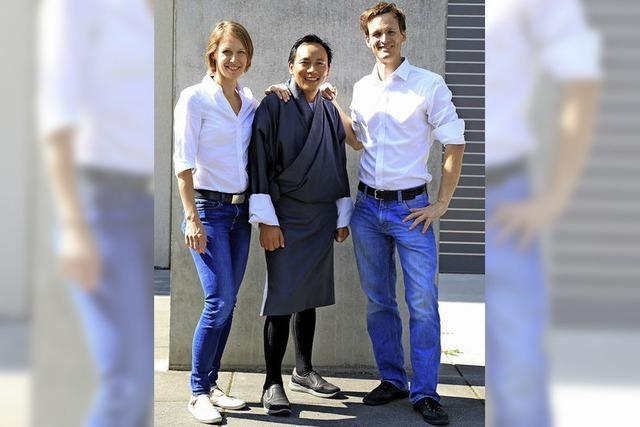 Gasey Lhendup, Reiseleiter aus Bhutan, war zu Gast in Freiburg