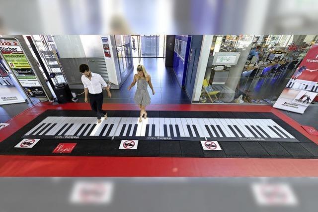 Das begehbare Klavier war da