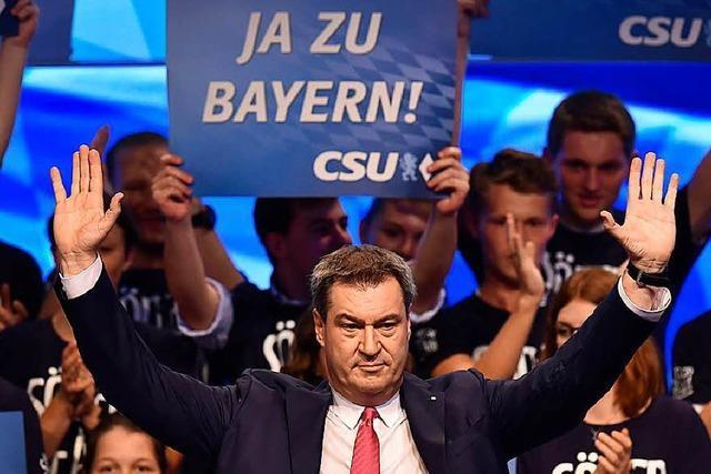 Söder ruft CSU zum Kampf um Bayerns Demokratie auf