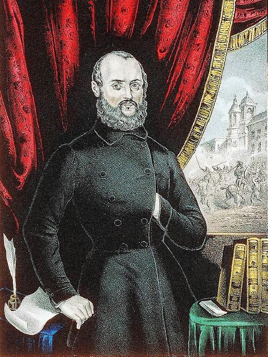Gustav Struve 1848  | Foto: Ernst Brugger