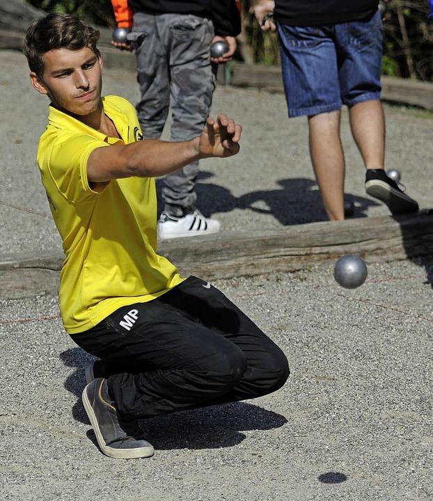 Marius Paul, BC Ettenheim, nimmt Maß.   | Foto: Pressebüro Schaller