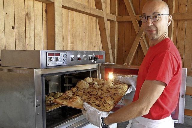 Leckerer Zwiebelkuchen heiß begehrt