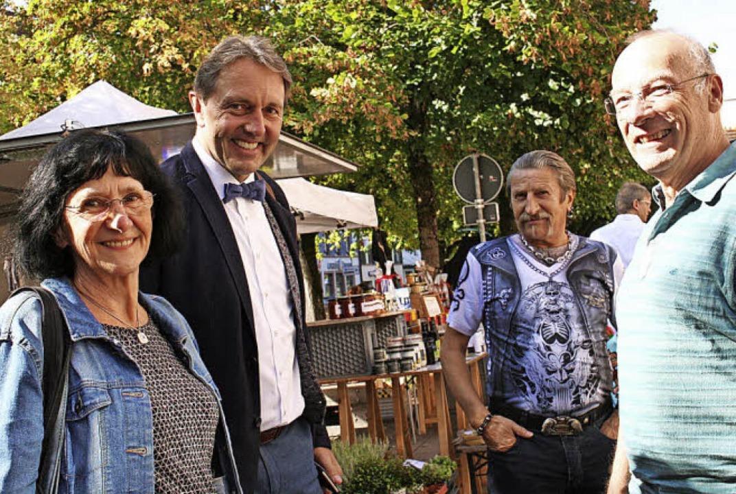 Bürgermeisterkandidat Josef Haberstroh...sten Fragen waren persönlicher Natur.   | Foto: Marlies Jung-Knoblich