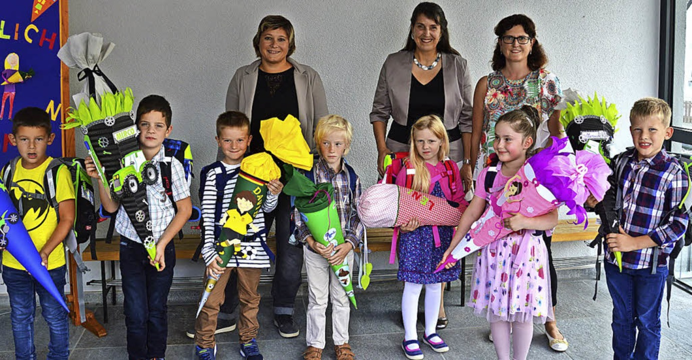 <BZ-FotoAnlauf>Angenbachtalschule Häg:... wurden am Freitag feierlich begrüßt.   | Foto: karl-heinz rümmele