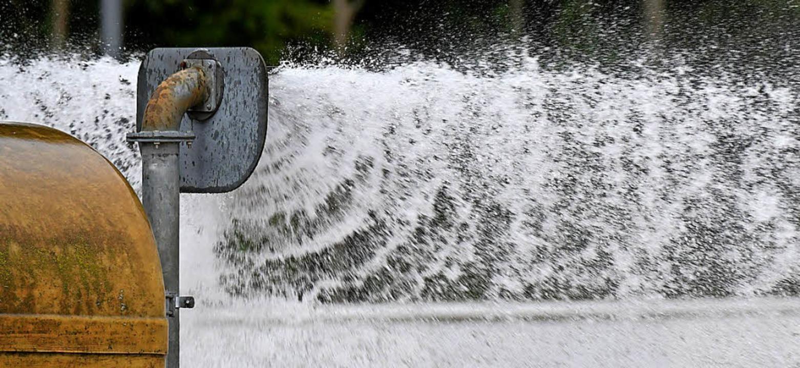 Wasser marsch: Frischkur für den Boden  | Foto: Achim Keller
