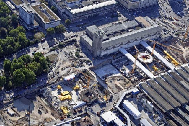 Halbzeit auf der Baustelle von Stuttgart 21