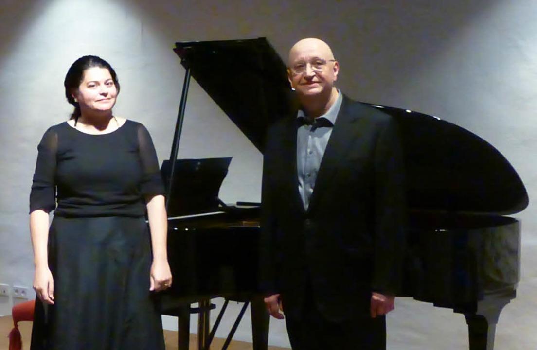 Pianistin Karina Cveigoren und Bassist Alexander Vassiliev     Foto: Anne Freyer