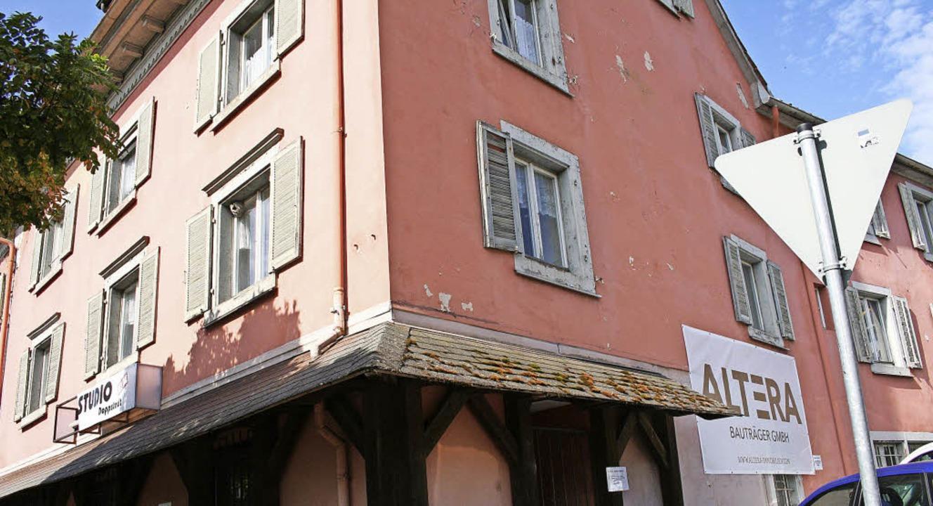 Das Eckhaus Haupt-/Mattenleestraße sol...Diskussionen gab's dazu im BUT.     Foto: Marlies Jung-Knoblich