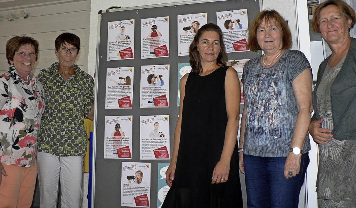 Das Team der Freiwilligenagentur präsentiert sich  im Treffpunkt Gambrinus.   | Foto: Charlotte Pötter