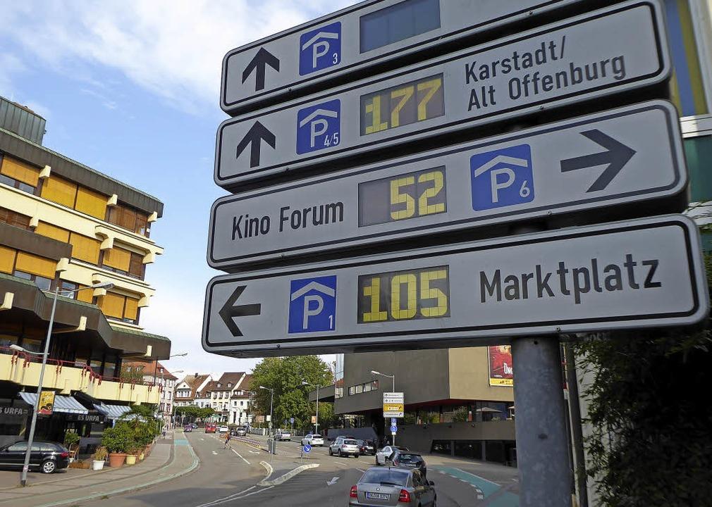 Ist in die Jahre gekommen: das Offenburger Parkleitsystem.  | Foto: Dierk Knechtel
