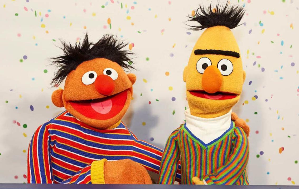 Ernie und Bert sind seit Jahrzehnten unzertrennlich.    Foto: dpa