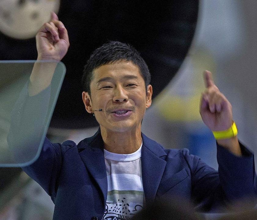 Nach oben zum Mond zieht es ihn: Yusaku Maezawa   | Foto: AFP
