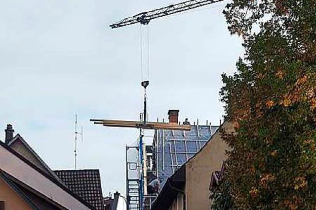Gefährliche Baustelle an der Säckinger Wernergasse