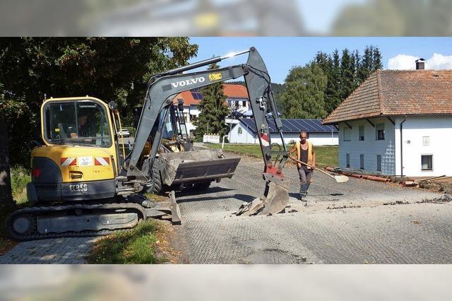 Straßensanierung kommt zügig voran