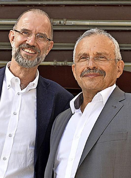 Die Mediziner Rüdiger Feik (links)  und Felix Liber   | Foto: ddn