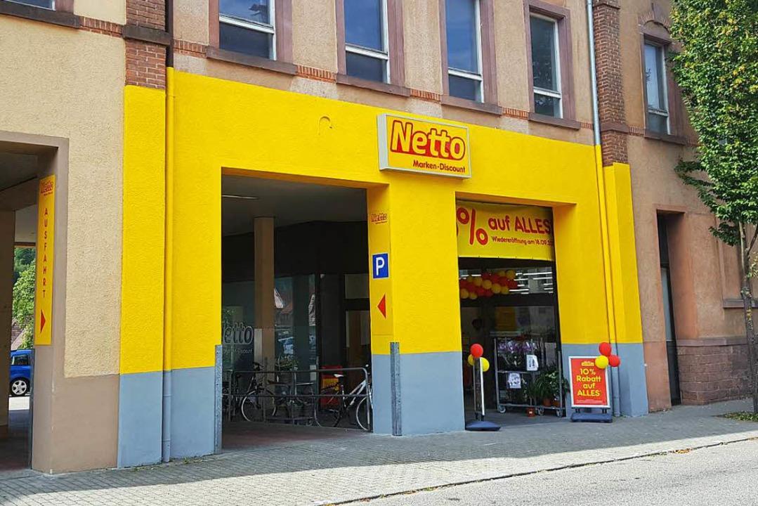 Zu auffällig, zu gelb: die Fassade des Netto-Markts in der Hauptstraße    Foto: Beate Zehnle-Lehmann
