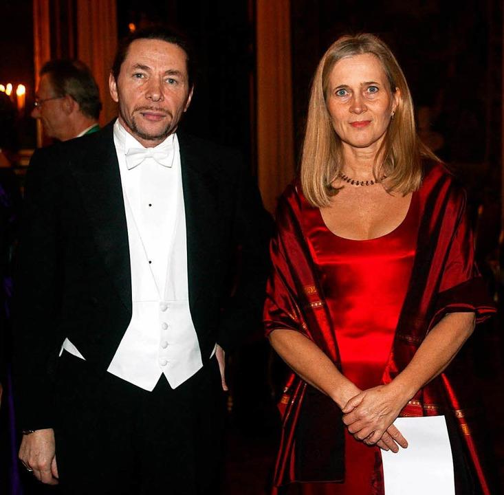 Jean-Claude Arnault und seine Frau Katarina Frostenson im Jahr 2001  | Foto: AFP