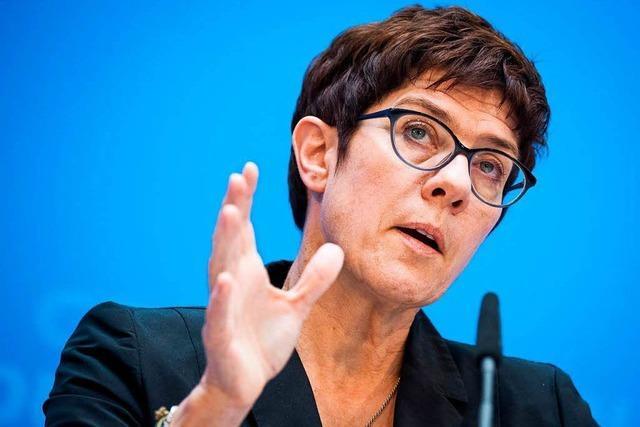 Kramp-Karrenbauer: Bruch der Koalition