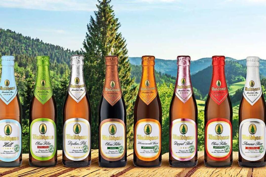Die Produktpalette von Waldhaus bietet etwas für jeden Geschmack.  | Foto: Privatbrauerei Waldhaus