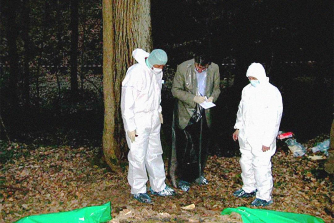 Spurensicherung in einem Waldstück zwi...tsteil Ehrenstetten und Staufen (2003)  | Foto: Polizeipräsidium Freiburg