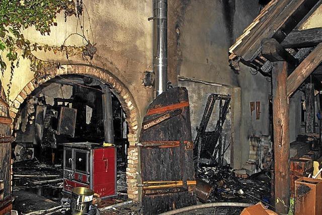 Großeinsatz der Feuerwehr in Achkarren