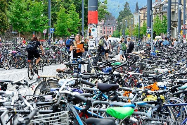 Neue Fahrradbügel für die Freiburger Innenstadt sind dreimal so teuer wie veranschlagt