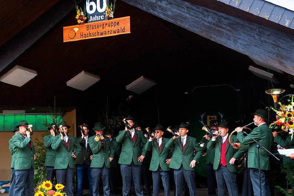 Die Jagdhornbläsergruppe Hochschwarzwald feiert ihr  60-jähriges Bestehen. (Foto: Wolfgang Scheu)