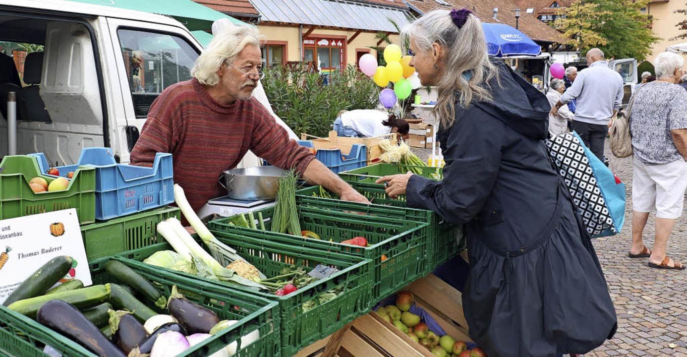 Obst und Gemüse aus der Region gab es beim Umkircher Herbstmarkt.    Foto: Christa Rinklin
