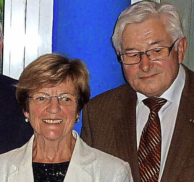 Gisela Ramadan und Herbert Luckmann si... Teningen seit Gründung  aktiv dabei.   | Foto: Karlernst Lauffer