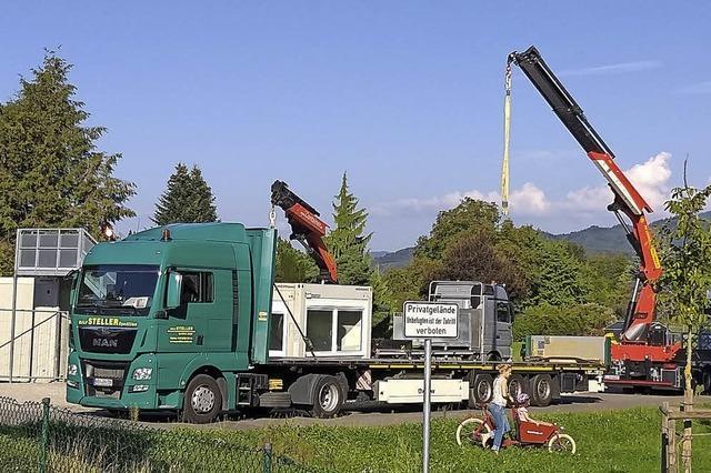 Container in Gundelfingen werden abgebaut