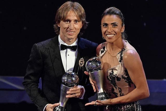 Luca Modric stürmt den Fußball-Olymp
