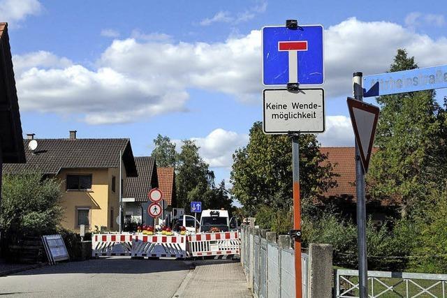 Mühlbachbrücke gesperrt