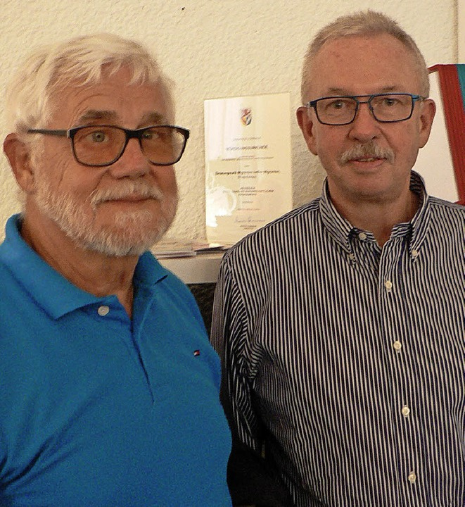 Christian Singer und Eckhard Mikuszies  | Foto: Charlotte Pötter
