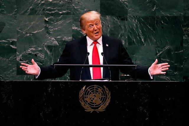 Trump wendet sich vor der UN gegen die