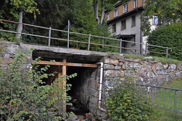 Bröckelnde Brücke, alte Brunnen