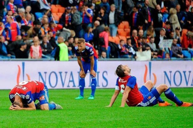 FC Basel in der Krise: Blick auf ein Team am Boden