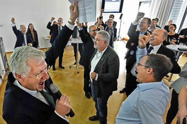 Die Uni Freiburg feiert ihren Erfolg in der Exzellenzinitiative