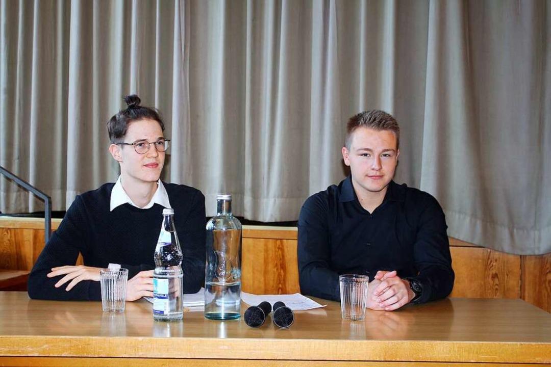 Initiatoren und Moderatoren:  Jonathan Noch (links) und Tobias Nüssle  | Foto: Anja Bertsch