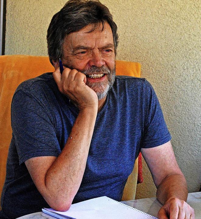 Thomas Erle beim Gespräch über die  Wächter-Trilogie   | Foto: Sylvia-Karina Jahn