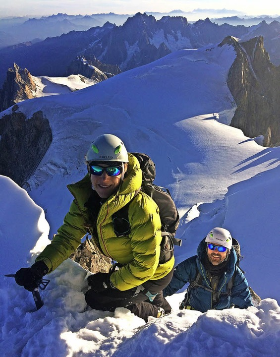 Katharina Neumaier und Volker Rießle am Mont Blanc.   | Foto: privat