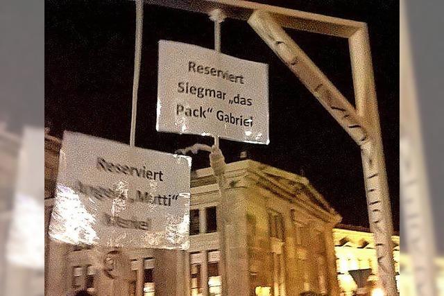 Der Pegida-Galgen darf nicht verkauft werden